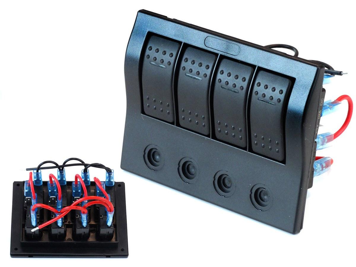 Przełączniki 12/24V IP68 (ON)-OFFx1, ON-OFFX3, 2B 5A, 1B 10A, 1B 15A - GRUBYGARAGE - Sklep Tuningowy